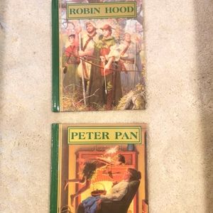 2 hard cover classic Disney out of print books